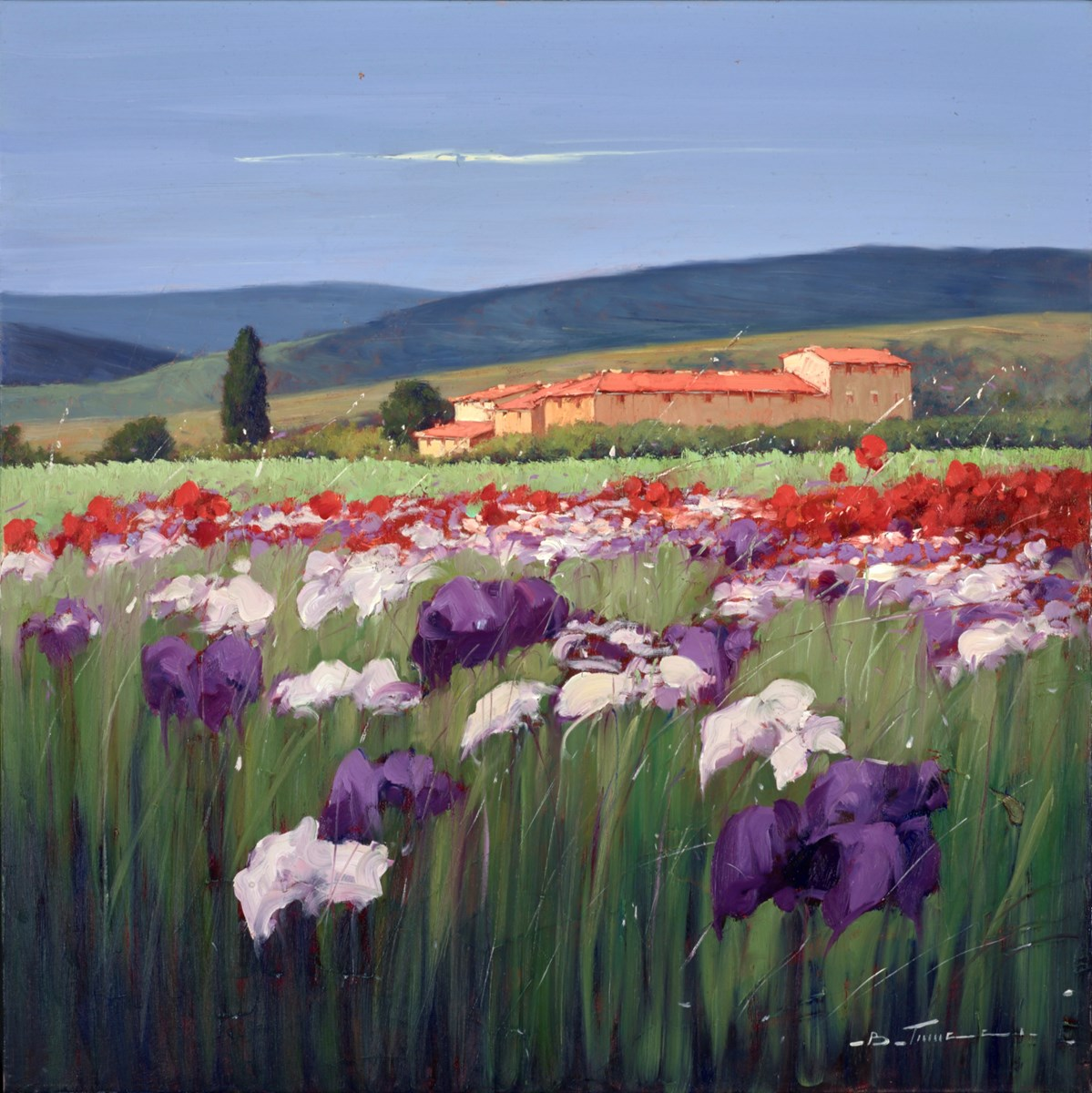 Moltissimi Fiori IV by bruno tinucci -  sized 32x32 inches. Available from Whitewall Galleries